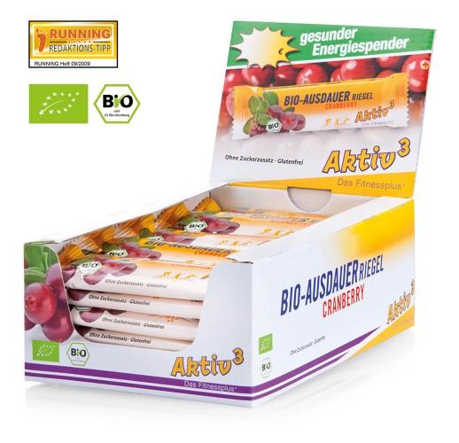 Aktiv3 Organic Endurance Bar Cranberry